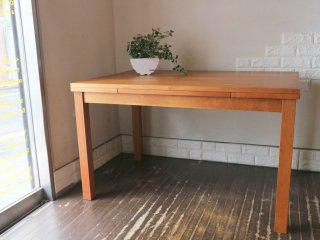 ウニコ unico リベロ LIBERO エクステンション ダイニングテーブル チェリー 廃盤 W120cm〜180cm ◎