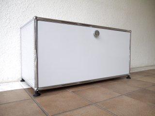 ユーエスエムハラーシステム USM Haller 1×1 ローボード W786 ライトグレー 定価¥83,550+α キャビネット オーディオラック AVボード オフィス家具 MoMA スイス製 ◇
