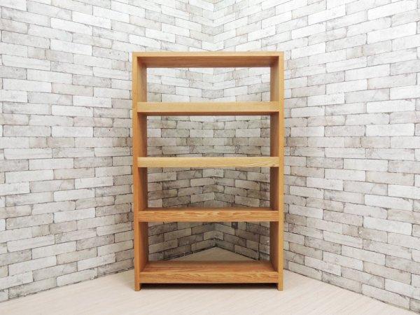 ノートファニチャー NAUT.furniture プレートブックシェルフ Plate book shelf タモ無垢材 オーダー品 参考価格12万円以上 ●