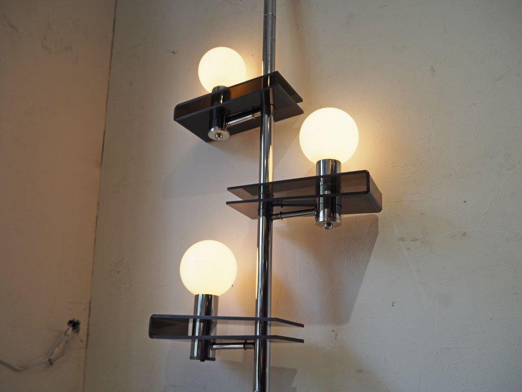 USビンテージ フロアランプ 3灯 突っ張り式 インダストリアル ミッドセンチュリー アクメファニチャー ACME FURNITURE 購入品 ★