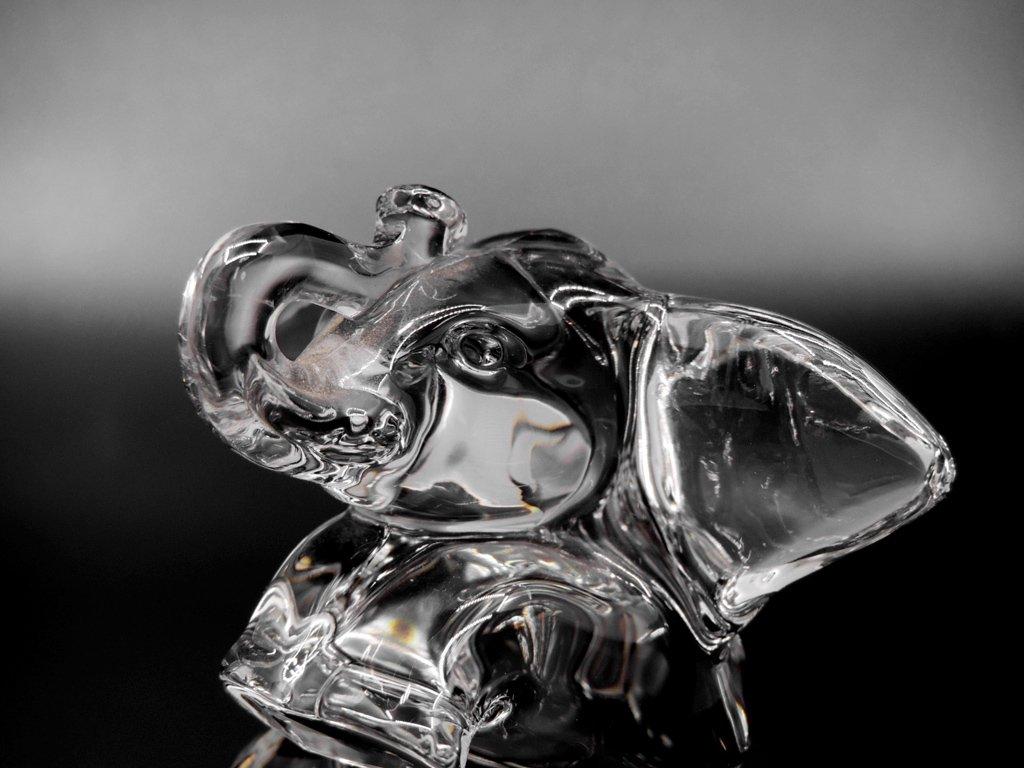 ビレロイ&ボッホ Villeroy&Boch クリスタル オブジェ ゾウ Crystal Sculpture elephant 置き物 ●