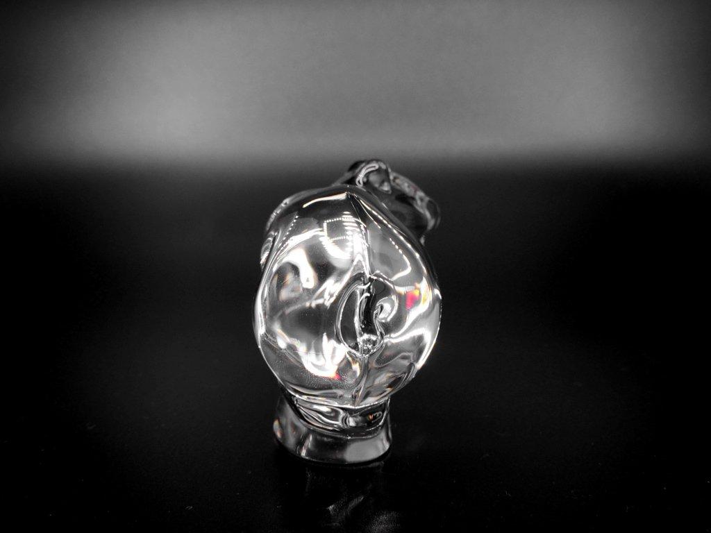 ドーム フランス Daum France クリスタル オブジェ 小熊 Crystal Sculpture Bear クリア ●