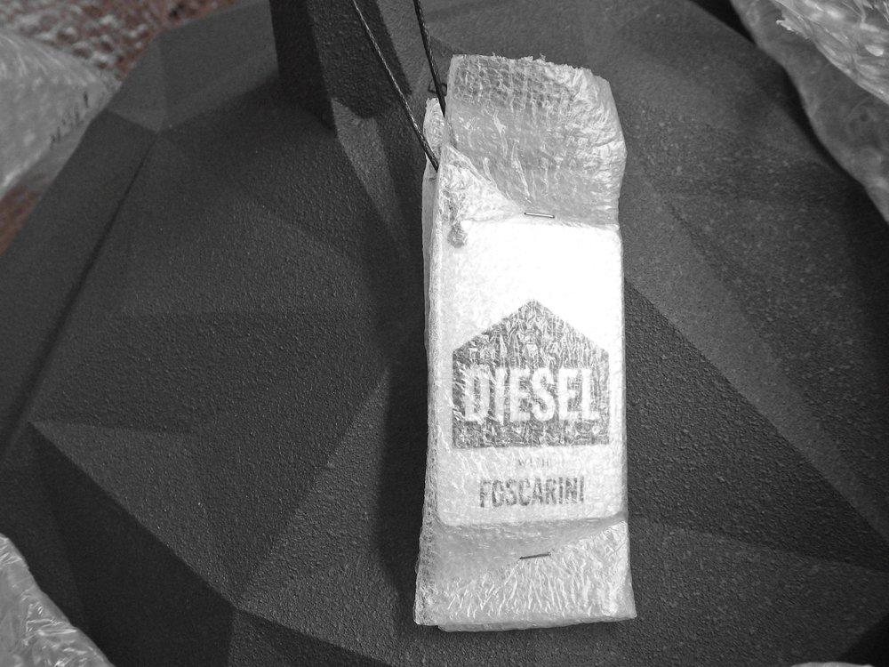 ディーゼルリビング ウィズ フォスカリーニ DIESEL LIVING with FOSCARINI ロック サスペンション ROCK SUSPENSION ペンダントライト ブラック 未使用品 ♪