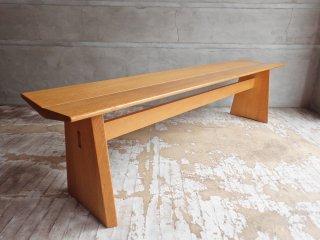 日進木工 ホワイトウッドシリーズ CARVE ベンチ WOB-160 オーク材 ナチュラル 定価¥85,800 ♪