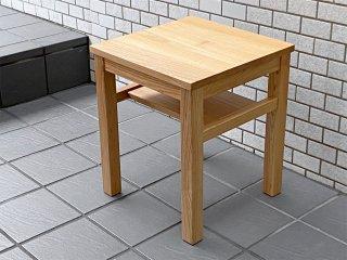 無印良品 MUJI タモ無垢材 サイドテーブル ナイトテーブル ナチュラル シンプル ■