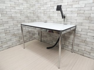 USMモジュラーファニチャー USMハラーテーブル アドバンス Haller table advance +スクリーンアーム+リンクチェーン 美品 B ●
