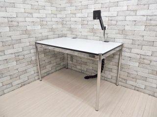 USMモジュラーファニチャー USMハラーテーブル アドバンス Haller table advance +スクリーンアーム+リンクチェーン 美品 A ●