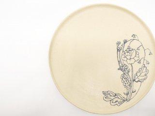 高橋由紀子 8寸 平皿 プレート 現代作家 A ●