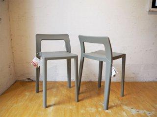 エノッツ ENOTS ミニマルチェア スタッキングチェア 椅子 スタッキングチェア 2脚セット 日本製 2.1kg 軽量 スツール ★