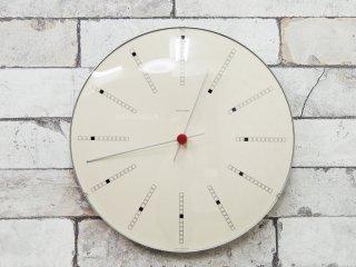 アルネヤコブセン ARNE JACOBSEN バンカーズクロック Wall Clock Bankers 290mm 掛け時計 JUNGHANS QUARTZ ドイツ製 ムーブメント ●