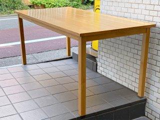 無印良品 MUJI ダイニングテーブル タモ材 無垢集成材 ナチュラル シンプル W165cm 廃盤 ■
