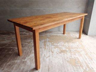 オールドメゾン old maison チーク無垢材 古材 ダイニングテーブル ワーキングテーブル W180 ♪