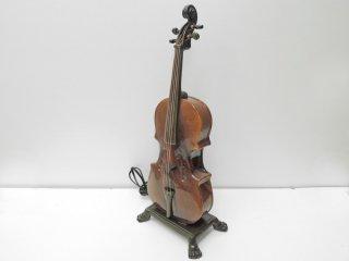 アンティークスタイル バイオリン型 テーブルランプ デコライト オブジェ ●