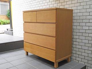 無印良品 MUJI 木製チェスト 4段チェスト オーク材 シンプルモダンデザイン ナチュラル ■