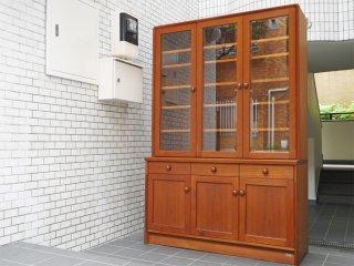 日田工芸 Hita Craft チーク材 食器棚 カップボード キャビネット 70's ビンテージ 北欧スタイル ■