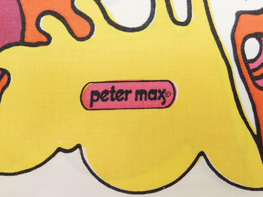 Mohawk ピーター・マックス Peter max ピローケース 枕カバー サイケデリック柄 70'sビンテージ アメリカ製 ポップアート ●