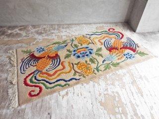 アジアンデザイン 鳥 ラグ W185 × 92cm オリエンタル ♪
