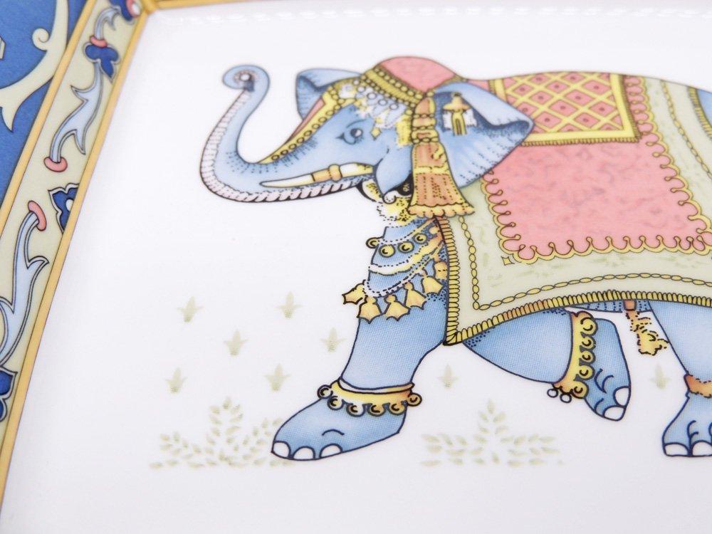 ウェッジウッド WEDGWOOD ブルーエレファント BLUE ELEPHANT スクエアプレート ●