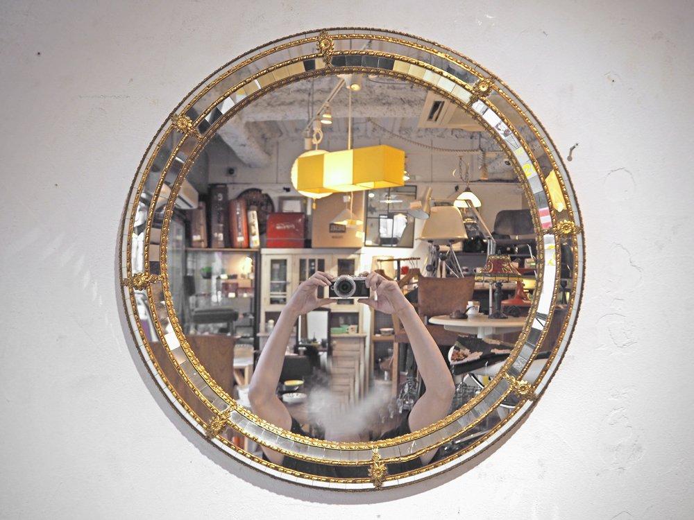 ヨーロピアンクラシカル European Classical ラウンドウォールミラー 鏡 デコラティブ 円形 ★