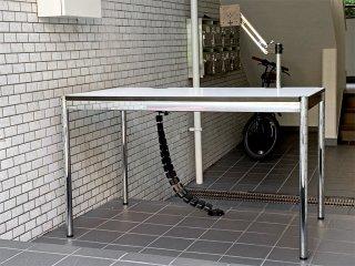 ユーエスエムハラー USM Haller モジュラーファニチャー ハラーテーブル アドバンス Haller table advance スクリーンアーム×2 リンクチェーン×2 美品 ■