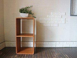 日進木工 nissin ブリックブロック BRICKBLOCK ACK-008 収納ボックス W70 仕切り付き オーク材 定価\29,700 ◎