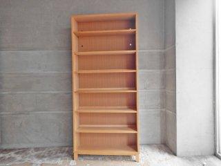 無印良品 MUJI タモ材 組み合わせて使える木製収納 高さ175cm 本棚 ブックシェルフ A ♪