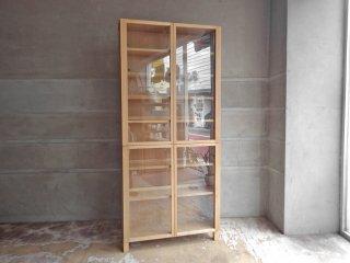 無印良品 MUJI 組み合わせて使える木製収納 ガラス扉セット キャビネット クローゼット タモ材 ♪