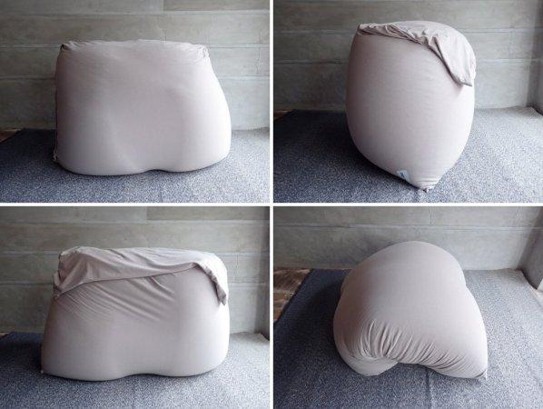 ヨギボー yogibo ダブル Double ビーズ ソファクッション ベッド ライトグレー 定価:¥65,780-♪
