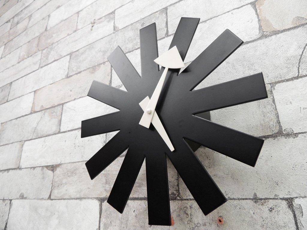 ヴィトラ Vitra ジョージネルソン George Nelson アスタリスククロック Asterisk Clock ブラック ミッドセンチュリー 定価: \35,200- ●