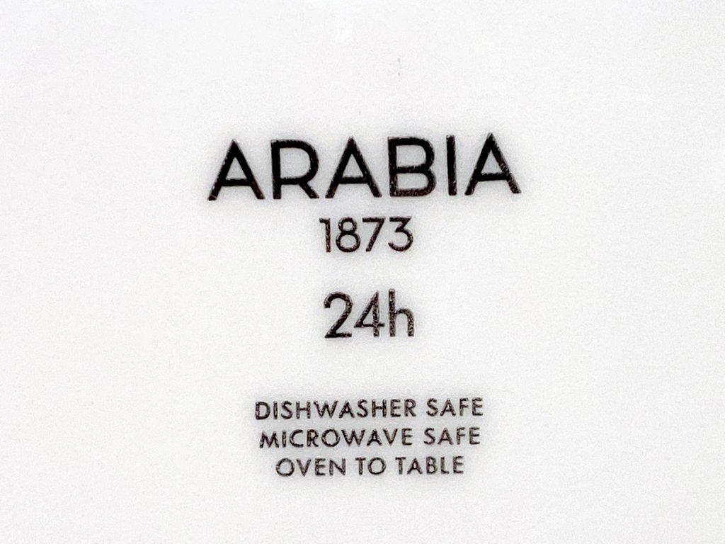 アラビア ARABIA 24H アベック Avec パスタプレート 24cm パープル 希少 美品 A ■