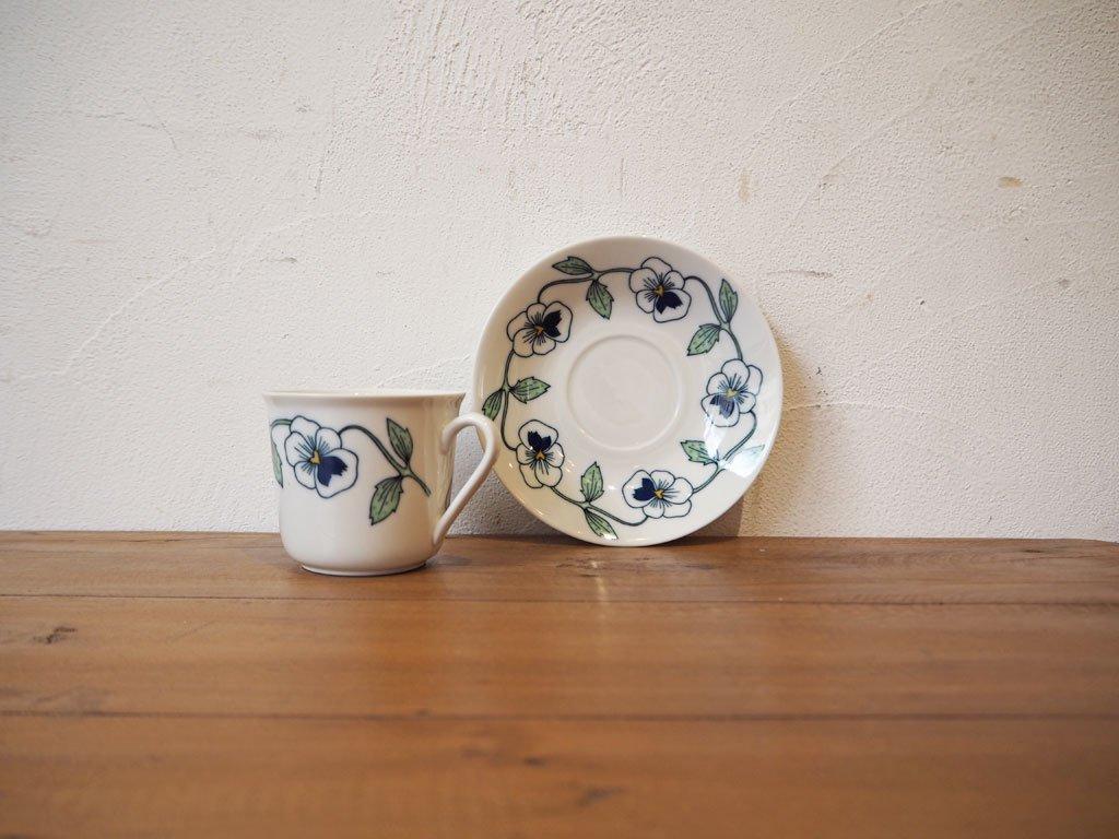 ロールストランド Rorstrand シルビア Sylvia コーヒーカップ&ソーサー B シルヴィア 北欧 食器 スウェーデン Sweden 250周年記念 ★