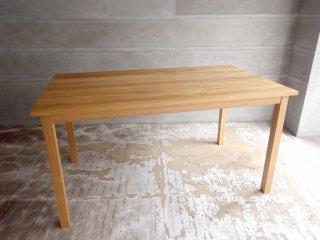 無印良品 MUJI オーク材 無垢集成材 ダイニングテーブル ナチュラル 幅140cm 廃盤 希少♪
