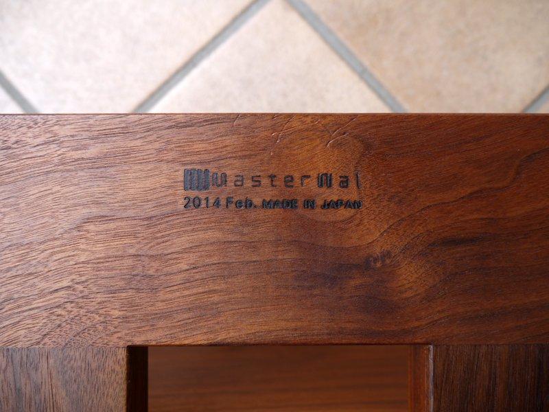 マスターウォール Master Wal モアレス ソファ オットマン MORELESS 9060 無垢ウォールナット材 ランク3生地 茶系 スツール フットレスト カウチ 状態良好 定価13.7万 ◇