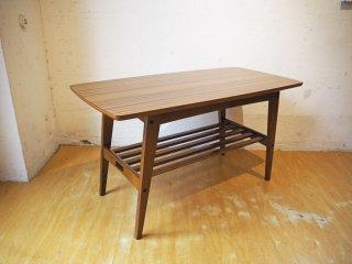カリモク60 karimoku60 リビングテーブル Sサイズ ウォールナットカラー デコラトップ ミッドセンチュリー ★