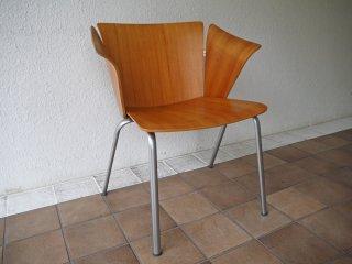 フリッツハンセン Fritz Hansen VM1 ヴィコチェア VICO Chair ヴィコ・マジストレッティ スタッキング プライウッド 参考価格\136,000~ 廃番 B ◇