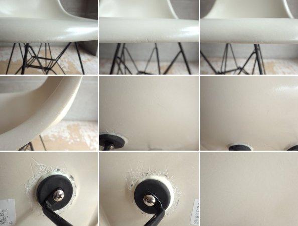 ハーマンミラー Herman Miller サイドシェルチェア 現行FRP製 1stタイプ エッフェルベース ホワイト C&R イームズ DSR ミッドセンチュリー♪
