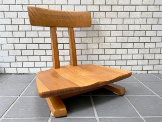 飛騨産業 HIDA キツツキ 円空 座椅子 回転式 ナラ無垢材 佐々木敏光 ■
