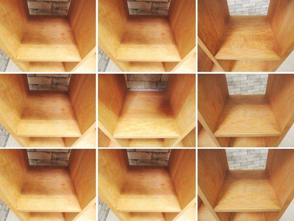 トラックファニチャー TRUCK FURNITURE メープル無垢材 オープンシェルフ収納 焼印有 ナチュラルモダン 廃盤品 ●