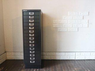 ビスレー BISLEY ベーシック BASIC 39/15 15段ドロワー キャビネット A4サイズ ブラック 参考価格59,400円 ◎