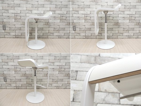 ラパルマ Lapalma レム LEM カウンタースツール 昇降式 カウンターチェア 突板シート デザインユニットAZUMI アズミ 美品 A ●