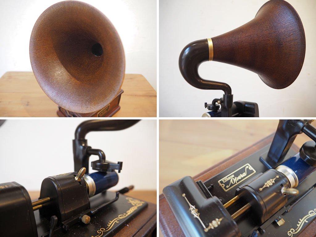 テクニクス Technics ミュージックボックス music box EDISON Opera オルゴール 蓄音機 アンティーク アクセサリーボックス ★