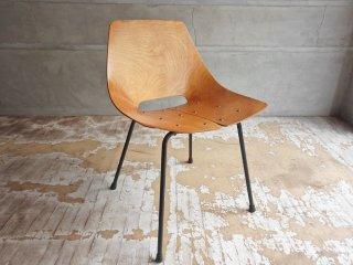 シュタイナー Steiner トノーチェア Tonneau Chair ピエール・ガーリッシュ Pierre Guarich プライウッド 難あり 特価品 現状品 ♪