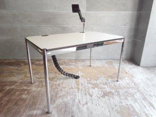 USMモジュラーファニチャー USMハラーテーブル アドバンス Haller table advance +スクリーンアーム+リンクチェーン 美品 A ♪