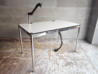 USMモジュラーファニチャー USMハラーテーブル アドバンス Haller table advance +スクリーンアーム+リンクチェーン 美品 B ♪