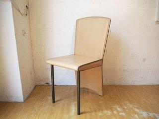 ザノッタ Zanotta アイーダチェア Aida chair ダイニングチェア 本革 ポストモダン アンドレア・ブランジ イタリア A ★