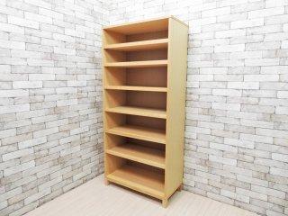 無印良品 MUJI タモ材 組み合わせて使える木製収納 奥行き40cm 本棚 ブックシェルフ ●