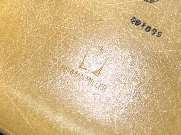 ハーマンミラー Herman Miller サイドシェルチェア 2ndビンテージのFRP製 オークルライトシェル x モダニカ製1stタイプ エッフェルベース チャールズ&レイ イームズ ●