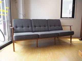 アクメ ファニチャー ACME Furniture デルマー DELMAR 3シーターソファ グレー Gray アッシュ材 参考価格 28万円相当 ★