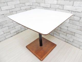カリモク60+ karimoku ロクマルプラス カフェテーブル メラミントップ×ラバーツリーベース ジャパニーズミッドセンチュリーモダンデザイン リビングテーブル デスク ●