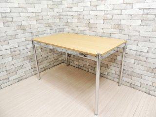 USM モジュラーファニチャー USMハラー テーブル USM Haller Table ワーキングテーブル カンファレンステーブル ダイニングテーブル デスク オーク材 ナチュラル天板 ●